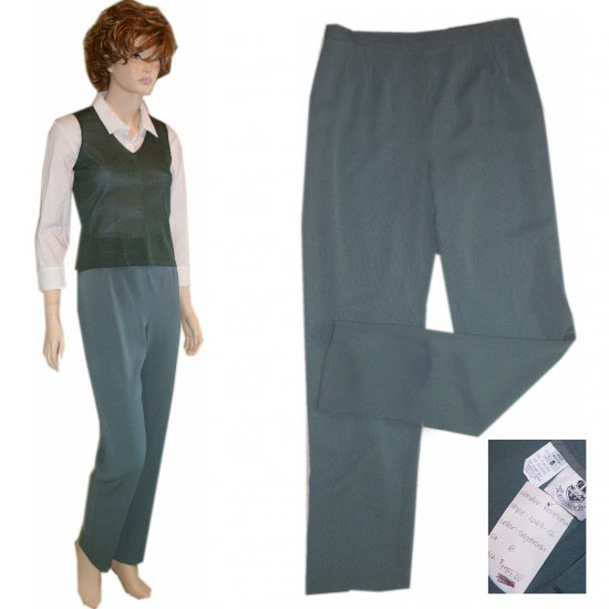 Renfrew * Sage Green Exec Pants * sz 8 * $19.99 * Retail $195