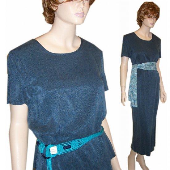 CYNTHIA MAX * Lake Blue Tweed 2-pc Maxi Dress * sz S * YOUR PRICE $19.99 * Retail $140