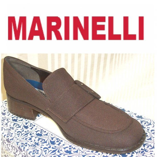 A. Marinelli * Brown Micro Buckle Loafers * sz 8 * YOUR PRICE $12.99 * MSRP $89