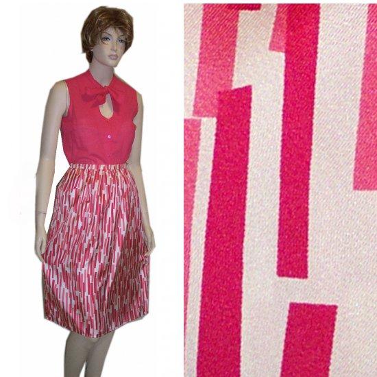 Italian Silk Full Skirt by Michael Kors in White & Red * YOUR PRICE $19.99 * sz 6 - Ret'l $198