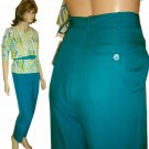 Silk Executive Pants by ANN MAY * Your price $19.99 * sz 4 aqua * Retail $175
