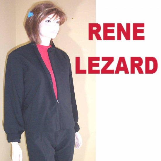 sz M - Renee Lezard Black Wool Zip Jacket - $59.99 - MSRP $500