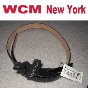 WCM Black Patent Croc Belt - MSRP $413 - Italy - size Small