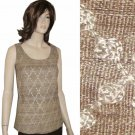 SILK EMBROIDERY Shell Top MSRP $138 by Ann May - sz M