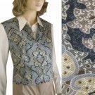 Paisley Vest by David Brooks - sz 10 - Gorgeous