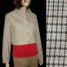 sz 8 - EMANUEL UNGARO Crop Jacket - Retail $305 - YOUR PRICE $45.99