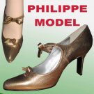 PILIPPE MODEL Paris Couture Pumps 10B Gold - Your Price $59.99 - Retail $375