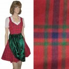 Scotch Plaid Bavarian Dirndl by Wendelstein - sz M