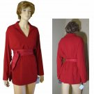 Retail $170 Red Knit Tunic - Oversized 10 by Dana B & Karen