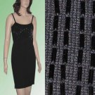 Wool Sweater Dress - Black - Beaded by Chetta B - sz large - Retail $225