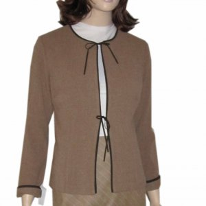 sz 8 Tie-Up Blazer - So Cute by Margaret M - Tan $31.99 - Retail $236