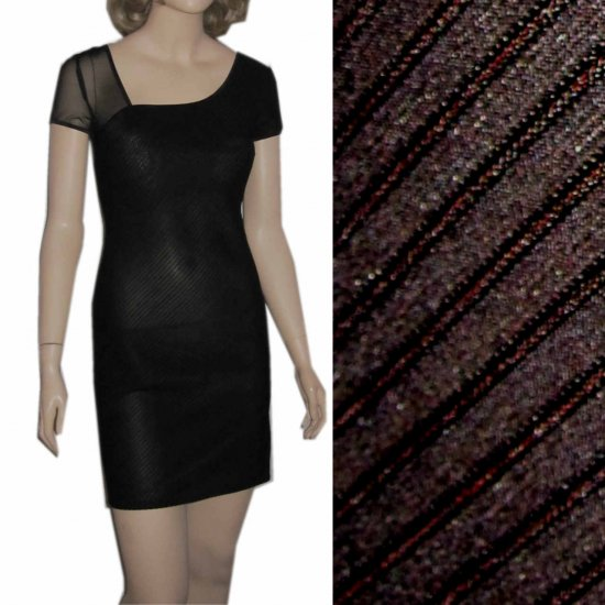 sz 6 - Curve-hugging Spandex Cocktail Dress - black by Bibbo $29.99 - MSRP $212