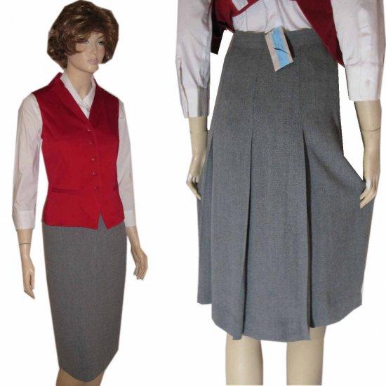 sz 6 Figure-Flaw HIding Back Pleat skirt by Renfrew - gray - $29.99 - Retail $187