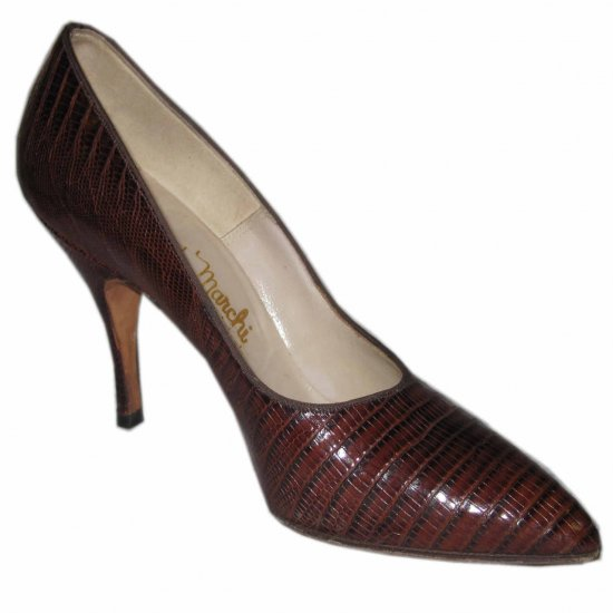 '50s CUSTOM MADE Snake Alligator Spike Heel Pumps 6B EXCELLENT!