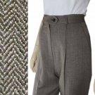 sz 4 - JON TAGIA Herringbone Tweed Wool Pants $45.99 - MSRP $319