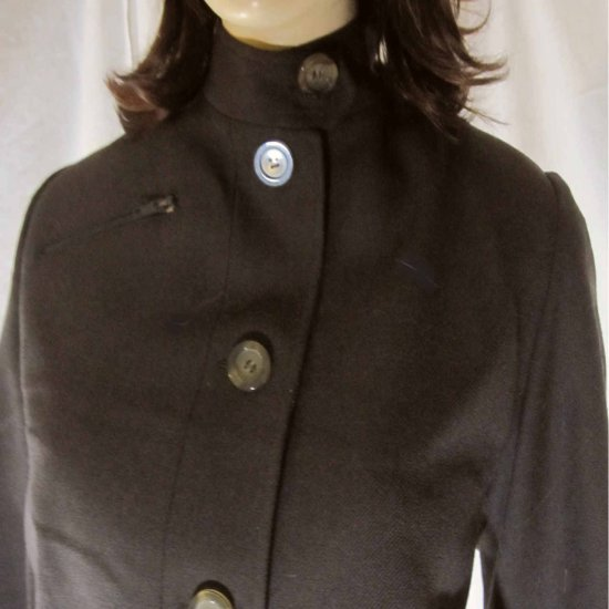 sz 14 JON TAGIA Funnel Neck Brown Wool Bomber Jacket $65.99 - MSRP $526