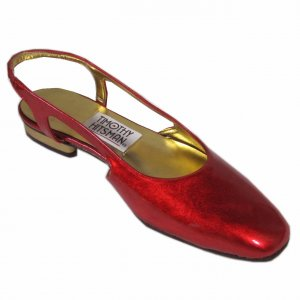 sz 6.5  TIMOTHY HITSMAN Neon Irridescent Red Patent Shoes $21.99