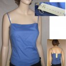 "size M Sky Blue Stretch cotton Camisole Top by ""& TROUSERS"" $18.99 List $78"