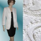 sz 4 CHEETA B - Black/white linen dress suit $69.99 - List Price $425