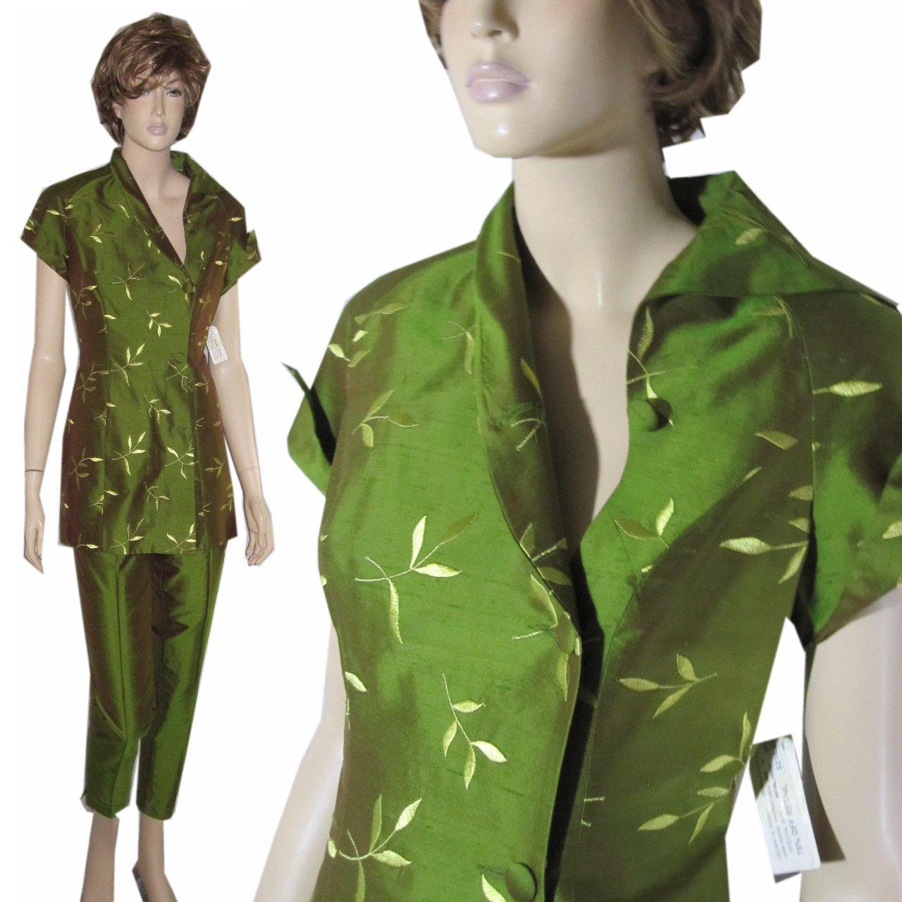 sz 6 PETROVITCH & ROBINSON Paris Silk Pant Suit $99 - LIst Price $870