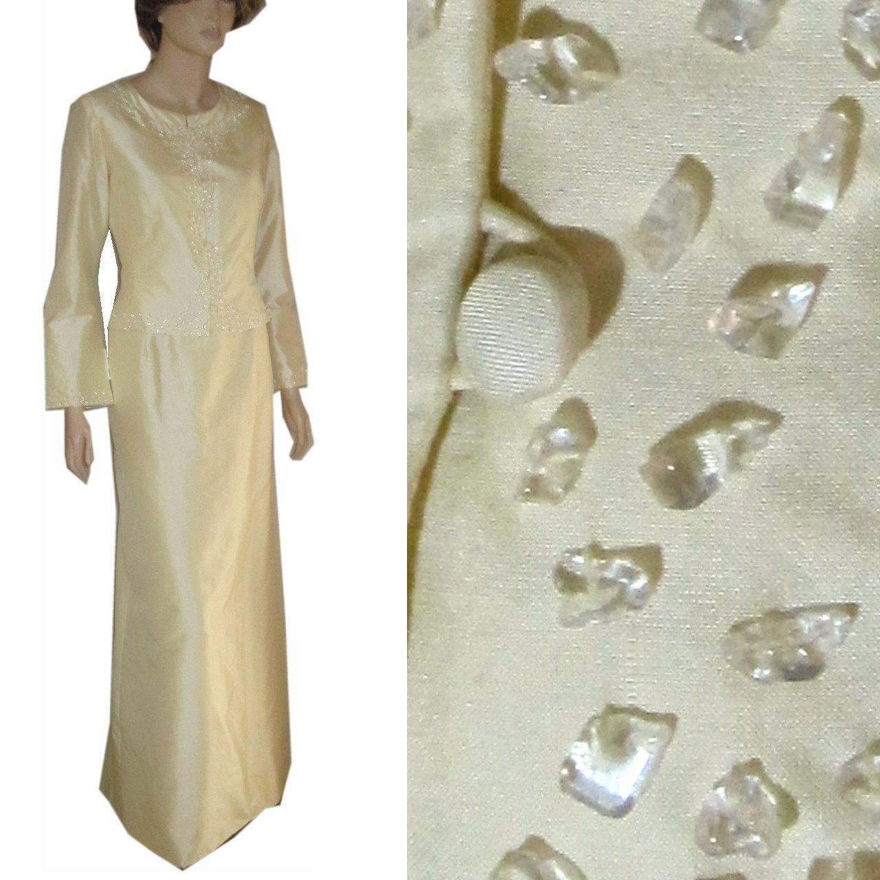 sz 8 MARISA BARATELLI Vanilla Silk Formal Suit $169.99 - List PRice $886