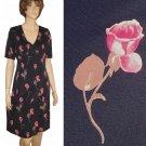 sz 12 MARIELLA BURANI Romantic Rose Pattern Dress $99.99 - List price $599