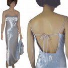 sz S-M - Vintage 70's Glamour Gown in Ice Blue UNWORN - Backless - Sexy