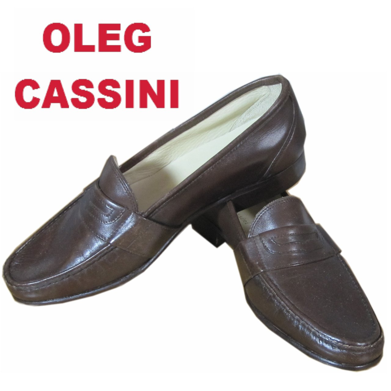sz 9.5 OLEG CASSINI Hand Made Italian Mens Loafers $59.99 - List price $425