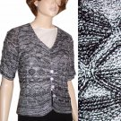 RONI RABL Hand Loomed Cardigan Sweater Retail $218 Your Price $34.99 sz S