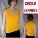 CECILE JEFFREY Funky Uneven Diagonal Hem Sweater Vest MSRP $260 Your Price $29.99 - size M