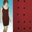 CHETTA B Rhinestone Studded Burgundy Tank Sheath Dress sz 4 $46.99 - Retail $365
