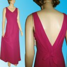 NICOLE MILLER Lusty, Low Tie-Back Gown in Fushia sz 6 $49.99 - Retail $300