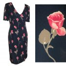 "MARIELLA BURANI Italian Couture ""30s Hollywood"" Dress wRoses $125.99 - retail $600 - sz 6"