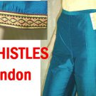 Thai Silk wGold Trim Capri Pants by WHISTLES sz 8 $24.99 - Retail $199