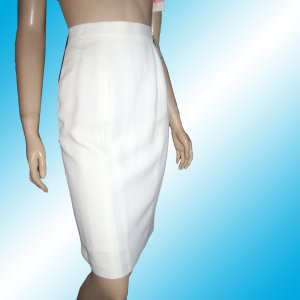 CITI YANSI FUGEL Off-White Exec Career Skirt sz 8 - $19.99 - Retai $168