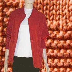 I.B. Diffusion Mixed Knit Boyfriend Sweater in Rust Medium $24.99 - MSRP $138