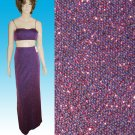 Dare to Wear this MIDRIFF SHOWING 2-pc Shimmer Gown by Nadine Small NEW