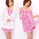 MA*RS / MARS (Gyaru Style) Floral Check Dress x Cardigan Set