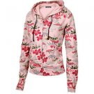 Lucky Brand Jeans - Pink Kyoto Floral Zip Hoodie