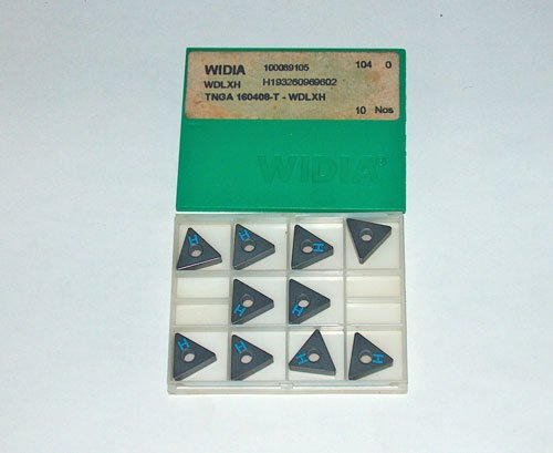 10 Pieces WIDIA CARBIDE INSERTS TNGA 160408-T