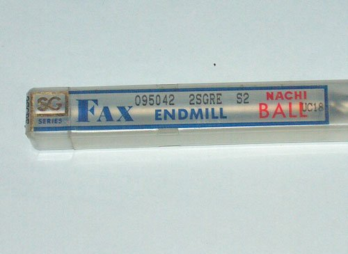 NACHI FAX SG SERIES BALL END MILL UC18 R4.6mm