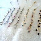 Crystal Spray Hijab Pins - Blue and Gold