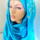Floral Crush Full Body Pashmina Hijab - Aqua