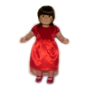 Red Special Occasion Dress for 18 inch Doll