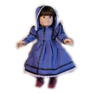Blue Pioneer Dress for 18 inch Doll
