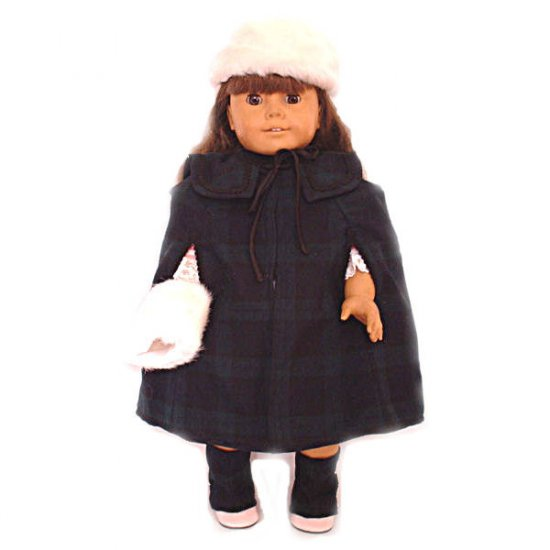 Plaid Victorian Cape for 18 inch Doll