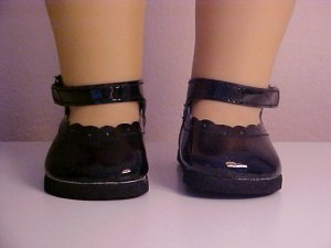Black Patent Mary Jane Shoes for 18 inch Doll