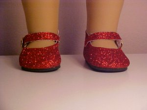 Red Sparkle Shoes for 18 inch Doll