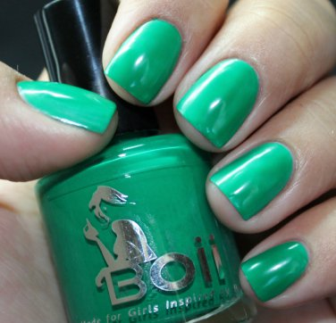 neon green hush  - Boii Nail polish