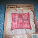 Stencil Hearts Chickenstitch'n Pillow Plus Ruffle